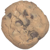 Actual Peanut Butter Chocolate Chip Cookie, Actual Size