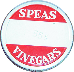 Speas Vinegar Jar Lid