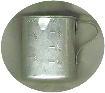 Aluminum Measuring Cup - Embossing Only On One Side
